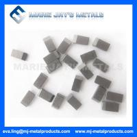 Cemented carbide saw tips used in the cutting of steel Manufactures