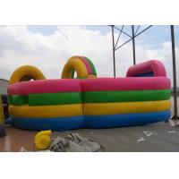 Inflatable obstacle course combo with bouncer , Colorful Kids Fun city Manufactures