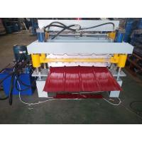 China Metal Roof Sheet Double Layer Roll Forming Machine White 9-12m / Min Working Speed on sale