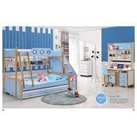 Buy cheap latest wooden bed designs kids bunk bed bedroom furniture A01 from wholesalers