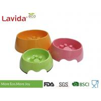 China Custom Made Solid Color Melamine Pet Bowl , Pet Feeding Bowls With Logo And Print on sale