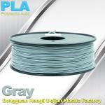 Professional Gray PLA 3d Printer Filament , 3D Printing Consumables Material Manufactures