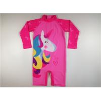 Pink Unicorn Kids UV Swimsuit  Polyester Long Sleeve High Neck Digital Printed Manufactures