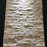 White Quartzite Mini Stone Panels / 3D Looking Thin Stacked Stone Panels Manufactures
