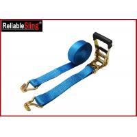 35mmx10m  Green Ratchet Straps with Double J Hook Ratchet Straps for Cargo Security Manufactures