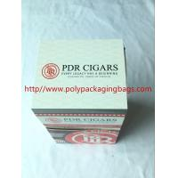 China Custom Cigar Humidor Bags / Cigar Wraps with Zipper and Window on sale