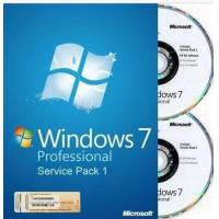 100% Work Windows 7 Professional Retail Box 32 & 64 Bit DVDs For One PC Manufactures