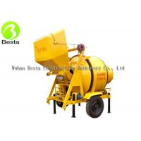 China Gear Driving Electric Concrete Mixer , Electric Motor Concrete Mixer on sale