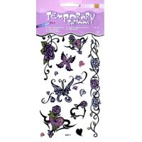Real body art Butterfly Design removable Color Glitter Temporary Tattoo printing for kid Manufactures