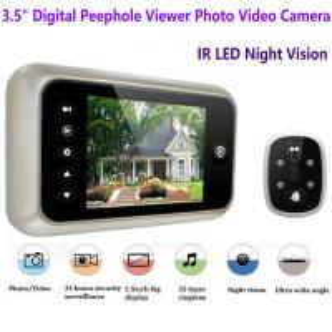 China 3.5 inch Screen Digital Door Peephole Viewer Camera 120 Degree Wide Angle Video Doorbell Phone Door Eye IR Night Vision on sale