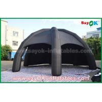 China Black PVC Inflatable Air Tent / Advertising Dome Spider Tent With Blower on sale