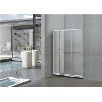 Clear / Printed Sliding Glass Shower Doors 6MM With Big Copper Wheels for Home / Hotel Manufactures