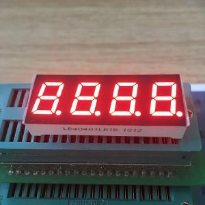 Super red 0.4 Inch 7 Segment LED Display Common Cathode For temperature indicator Manufactures