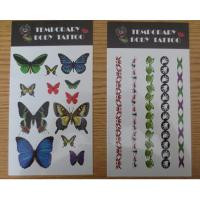 Personalized Temporary Tattoo Stickers For Women , Water Transfer Body Arm Tattoo Manufactures
