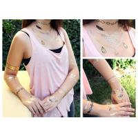 Customized Metallic Gold Foil Temporary Fake Tattoo Stickers Environment Friendly Manufactures