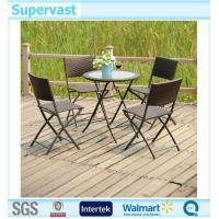 China Home Garden Resin Wicker Patio Furniture 5PC Folding Dining Set Chairs and Table on sale