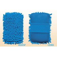 China Blue microfiber wash mitt Cleaning Tools in Kitchen for window / Door on sale