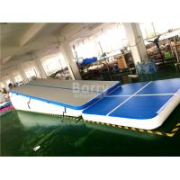 Double Wall Fabric Blue Floating Water Inflatable Air Track Ramp For Slide Manufactures