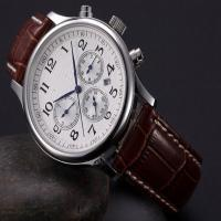 Men Brown Leather Strap Watches Manufactures