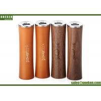 18650 Battery Wood Power Bank Solid Stick Tube Shape 2500mAh With Lasering Logo Manufactures