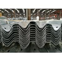 Metal Highway Thrie Beam Guardrail Hot Dipped Galvanized Plastic Sprayed Manufactures
