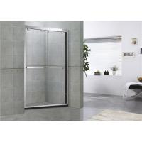 Clear Double Sliding Glass Shower Doors With Double Long Hole Distance Handles for Home Manufactures
