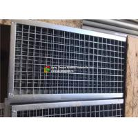 Plain Welded Steel Bar Grating Closed End 6m Length For Municipal Subgrade Manufactures