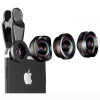 4 in 1 wide angle macro fisheye 2x zoom telephoto lens kit for universal smartphones Manufactures