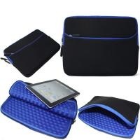 Blue Shockproof Laptop Sleeve , Neoprene Macbook Pro 13 Inch Sleeve Manufactures