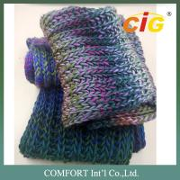 China Colorful Acrylic / Cotton / Wool Yarn Knitted For Woman Scarf In Spring / Winter wholesale