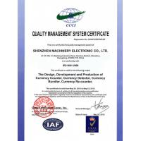 Shenzhen Machinery Electronic Co., LTD. Certifications