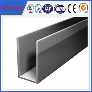 6063 t5 price of pure aluminume per square meter,Aluminium glass u profile Manufactures