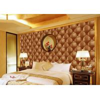 Concise Diamond Printing Inmitation Leather Wall Coverings Moisture Resistant Manufactures