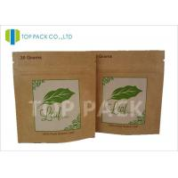 SGS Approval Foil Stand Up Herbal Incense Pouch Kraft Paper Zipper Closure Manufactures