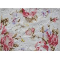 White Flower Digital Printed Fabric , 90% Nylon + 10% Spandex CY-LY0090 Manufactures