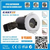 Quality MR16 GU10 Aluminium Bathroom IP65 Fire Rated Downlight Fittings - Chrome Color for sale