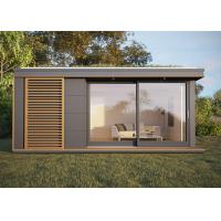 Quality Yard Prefab Garden Studio Flat House Holiday Chalet With Wooden Cladding for sale