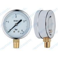 Low pressure gauge / dial size pressure gauge with  brass connection Manufactures