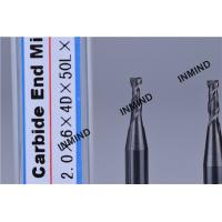 HRC50 AlTiN Coating , 2mm Square End Mill , 2 Flute , high precision , Carbide end mill , Grain Size 0.8UM , Manufactures