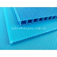 Ultraviolet - Proof Clear Plastic Hollow Board Corrugated Environmentally Friendly Manufactures