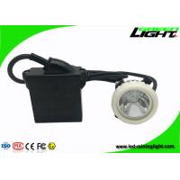 ABS LED Mining Cap Lights IP68 6.6Ah Li - Ion Battery 10000lux Brightness Manufactures