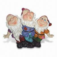 Hand-painted Garden Dwarf/Gnome Decoration, Made of Polyresin, OEM Designs are Accepted Manufactures