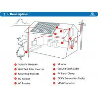 Quality IP65 Ingress Protection Residential Solar Power Systems RS232 Communication Port for sale