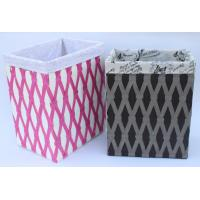 Rope woven hamper, paper storage basket, laundry basket with facric lining, Manufactures