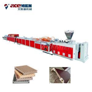 Sawdust Board Wood Plastic Composite Production Line PVC UPVC Hollow Door