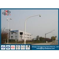 ODM Galvanied Tubular Surveillance Camera Poles for Outdoor Monitor System Manufactures