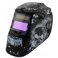 China Safety Solar Powered Auto Darkening Welding Helmet Large View For Metal Man / Huntsman on sale
