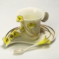 Bone China CCG007(Yellow) Coffee Cups Manufactures