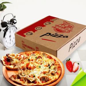 China Custom Brown Kraft Corrugated Pizza Boxes on sale