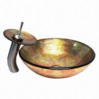 Wash Sink/Basin/Bowl, Made of Tempered Glass Manufactures